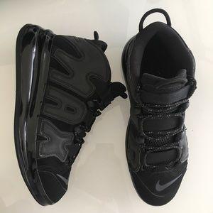 Nike Triple Black Air Max More Uptempo Mens Sz 10